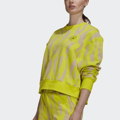 Felpa adidas by Stella McCartney Giallo Donna adidas by Stella McCartney