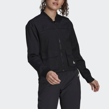 Women's Essentials Black adidas x Zoe Saldana Track Jacket