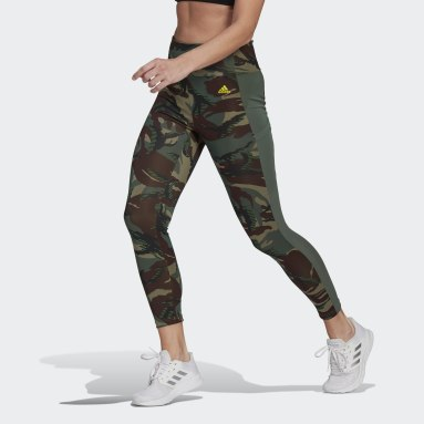 Tight 7/8 AEROREADY Designed 2 Move Camouflage High-Rise Verde Donna Fitness & Training