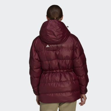 Chaqueta acolchada 2-in-1 Mid Length Burgundy Mujer adidas by Stella McCartney