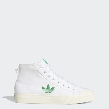 Women Originals White NIzza Trefoil Hi Shoes