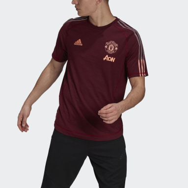 Men Football Red Manchester United Travel Jersey