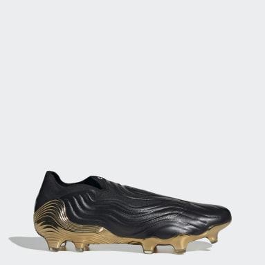 Bota de fútbol Copa Sense+ césped natural seco Negro Hombre Fútbol