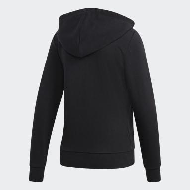 Buzo con Capucha Essentials Linear Negro Mujer Sportswear