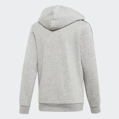 Kids Sportswear Grey Essentials 3-Stripes Hoodie