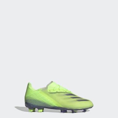 Chaussure X Ghosted.1 Terrain souple Vert Enfants Football