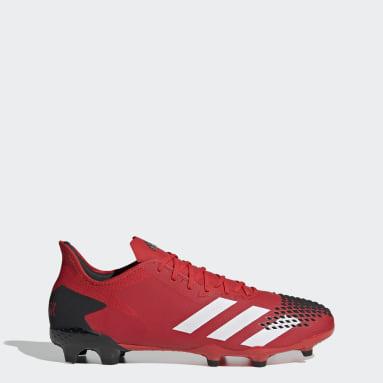 Bota de fútbol Predator 20.2 césped natural seco Rojo Mujer Fútbol