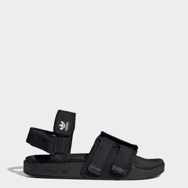 New adilette Sandals Czerń
