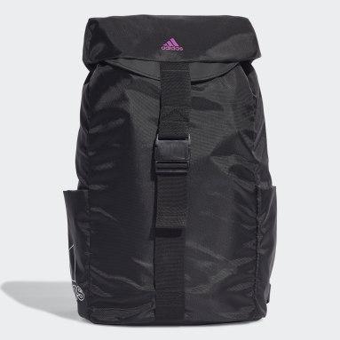 Women Studio Black Canvas Sport Backpack