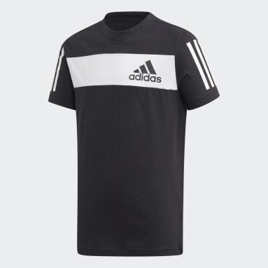 T-shirt Sport ID Noir Garçons Fitness Et Training