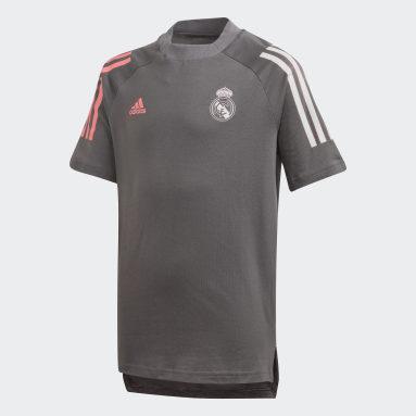 Kinder Fußball Real Madrid T-Shirt Grau