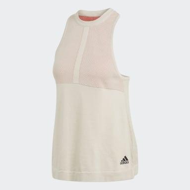 Camiseta sin mangas adidas Z.N.E. Primeknit Blanco Mujer Sportswear