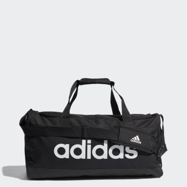 Tennis Black Essentials Logo Duffel Bag Medium