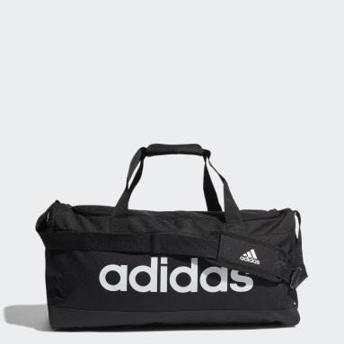 Tennis zwart Essentials Logo Duffeltas Medium