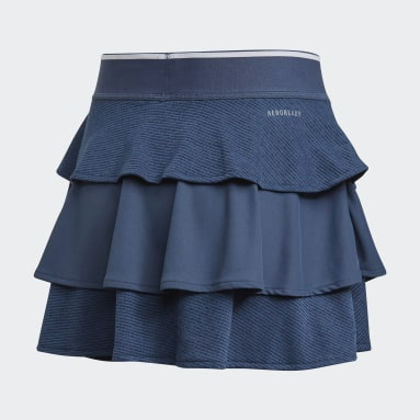 Youth 8-16 Years Tennis Blue Pop-Up Skirt