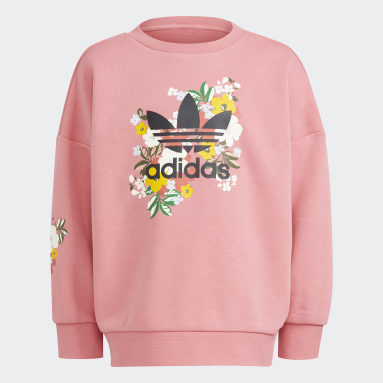 Girls Originals Pink HER Studio London Floral Crew Set