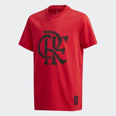 Camiseta Estampada CR Flamengo Vermelho Meninos Futebol