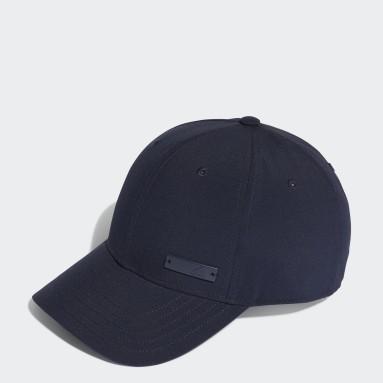 Tennis Blue Lightweight Metal Badge Baseball Cap