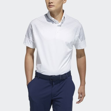 Men Golf White Polo Shirt