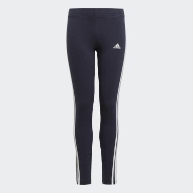 Dívky Sportswear modrá Legíny adidas Essentials 3-Stripes