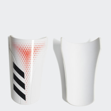 Football White Predator 20 Club Shin Guards