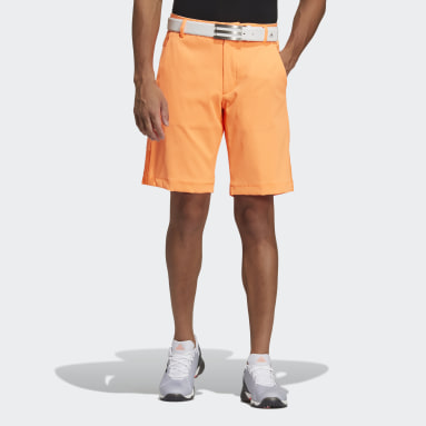 Men Golf Orange Shorts