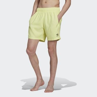 Short da nuoto adicolor Essentials Trefoil Giallo Uomo Originals