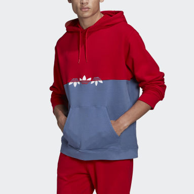 Men Originals Blue Adicolor Sliced Trefoil Hoodie