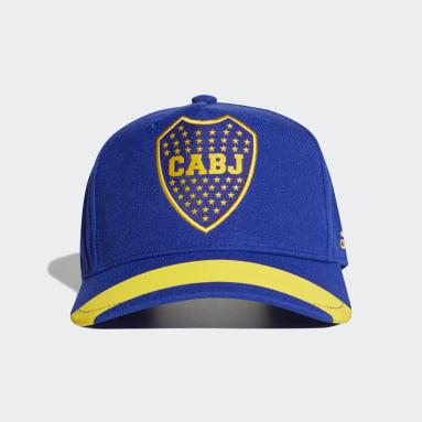 Gorra Boca Juniors Visera Plana Azul Fútbol