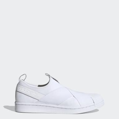 Originals สีขาว รองเท้าทรงสวม Superstar