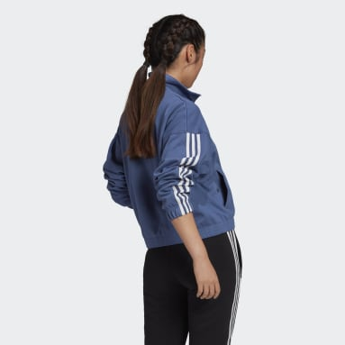 Women's Originals Blue Adicolor 3D Trefoil Track Jacket