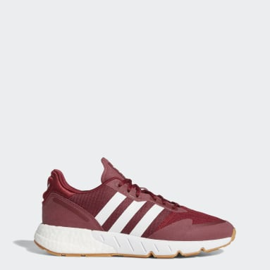 Men's Originals Burgundy ZX 1K Boost Shoes