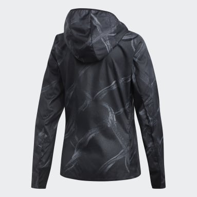 Chaqueta Own the Run Graphic Gris Mujer Running