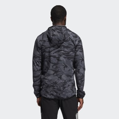 Chaqueta con capucha FreeLift Camouflage Training Negro Hombre Cricket