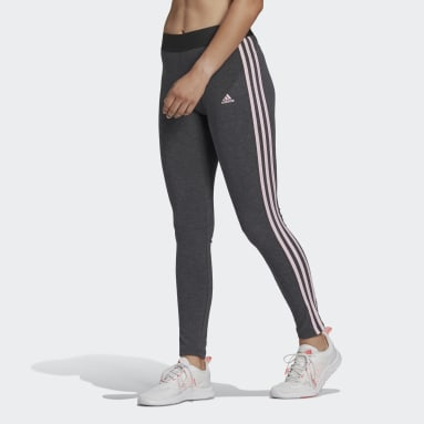 Women Essentials Grey LOUNGEWEAR Essentials 3-Stripes Leggings