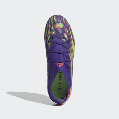 Children Soccer Purple Nemeziz .1 Firm Ground Cleats