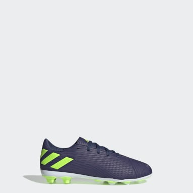 Kids 4-8 Years Football Blue Nemeziz Messi 19.4 Flexible Ground Boots