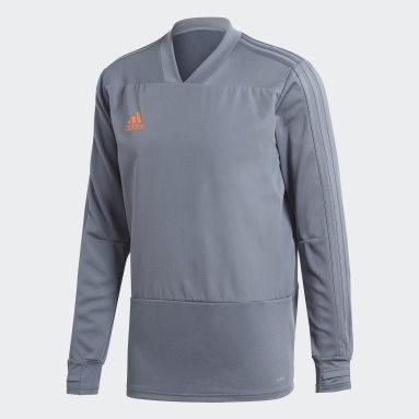 Camiseta manga larga entrenamiento Condivo 18 Player Focus Gris Hombre Gimnasio Y Entrenamiento