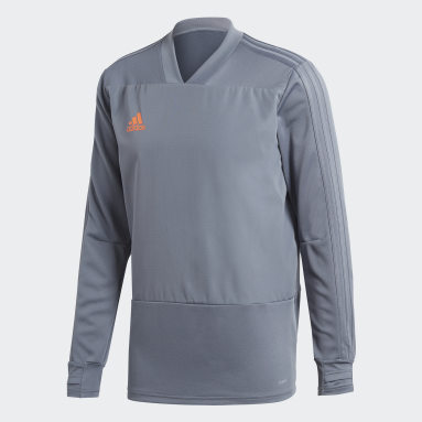 Heren Fitness En Training Grijs Condivo 18 Player Focus Training Longsleeve