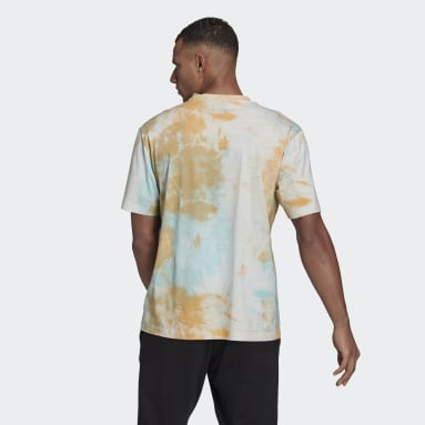 Men Sportswear Orange Essentials Tie-Dyed Inspirational T-Shirt