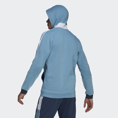Men Cricket Blue Tiro 21 Sweat Hoodie