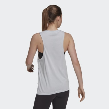 Women Sportswear Blue Oversize Tank Top