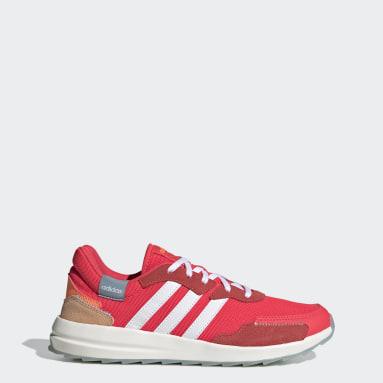 Women's Essentials Red Retrorun Shoes