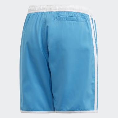 Children Swim Turquoise 3-Stripes Swim Shorts
