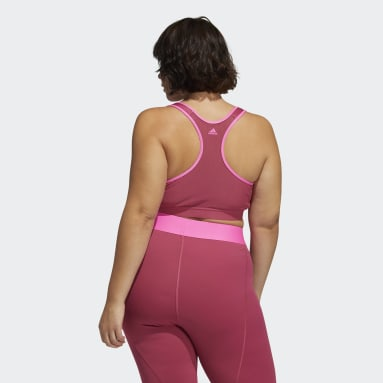 Women Gym & Training Pink Don't Rest Bra (Plus Size)