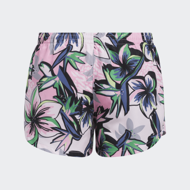 Youth Training Pink Print Woven Shorts