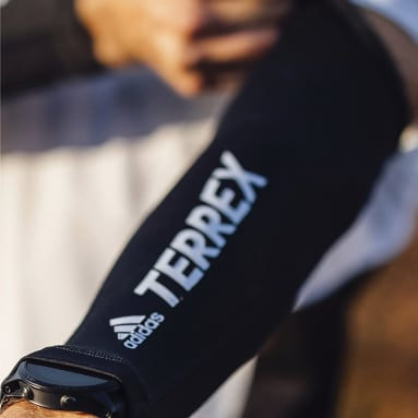 TERREX černá Kompresní rukávy Terrex Primeblue Trail