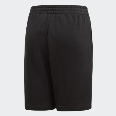 Boys Gym & Training Black Essentials Logo Shorts