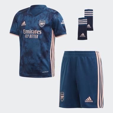 Kids Football Blue Arsenal 20/21 Third Mini Kit