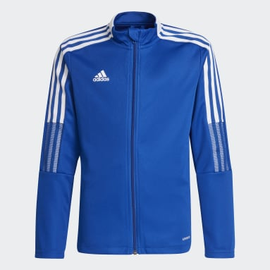 Youth Soccer Blue Tiro 21 Track Jacket